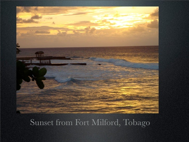 Sunset from Fort Milford, Tobago