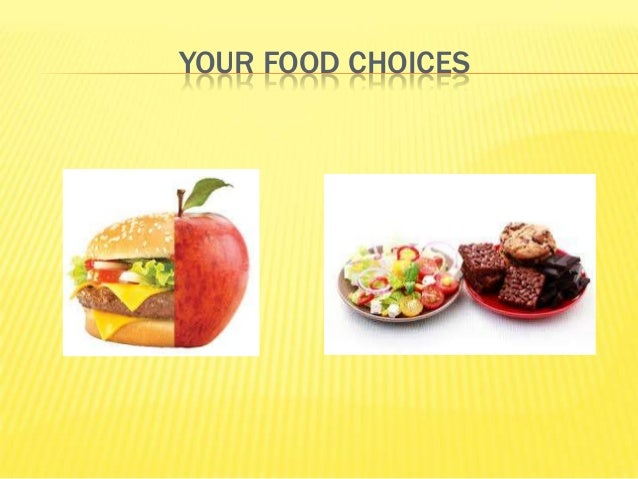 YOUR FOOD CHOICES