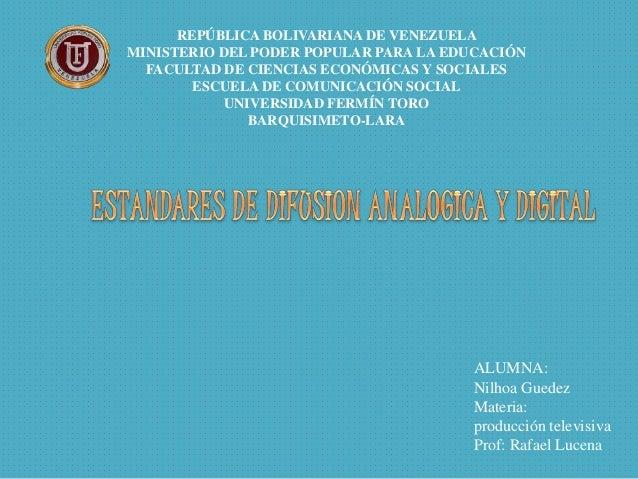 REPÚBLICA BOLIVARIANA DE VENEZUELA MINISTERIO DEL PODER POPULAR PARA LA EDUCACIÓN FACULTAD DE CIENCIAS ECONÓMICAS Y SOCIAL...