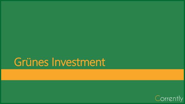 Gr�nes Investment