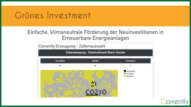 Einfache,klimaneutraleF�rderung der Neuinvestitionen in Erneuerbare Energieanlagen Gr�nes Investment