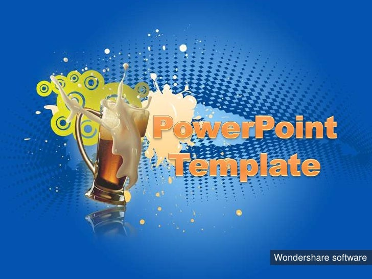 PowerPoint Template<br />Wondershare software<br />