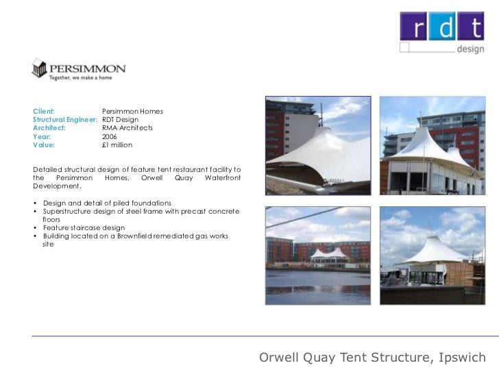 Rdt Profile And Examples Of Project Experience Aug 2012