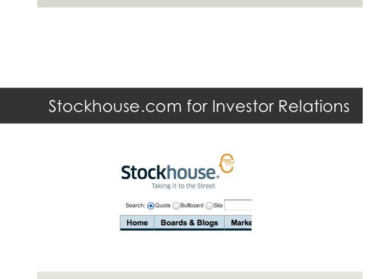 Stockhouse.com for Investor Relations