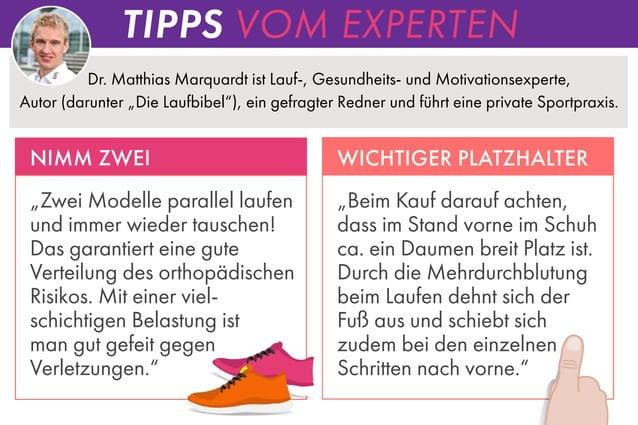 """TIPPS VOM EXPERTEN Dr. Matthias Marquardt ist Lauf-, Gesundheits- und Motivationsexperte, Autor (darunter """"Die Laufbibel"""")..."""