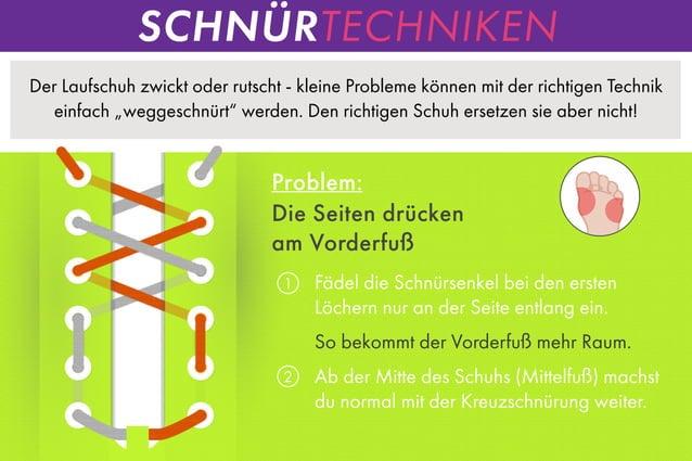 """Der Laufschuh zwickt oder rutscht - kleine Probleme können mit der richtigen Technik einfach """"weggeschnürt"""" werden. Den ri..."""