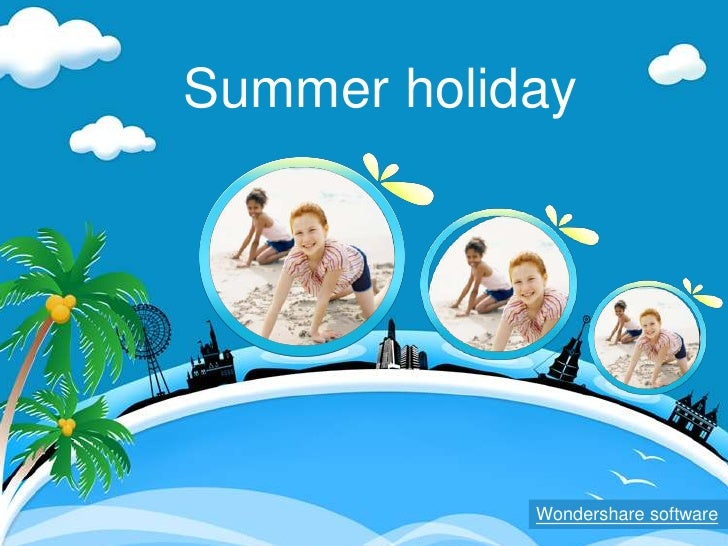 Slideshow Summer Holiday Ppt Template