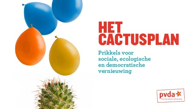 het  cactusplan  Prikkels voor  sociale, ecologische  en democratische  vernieuwing