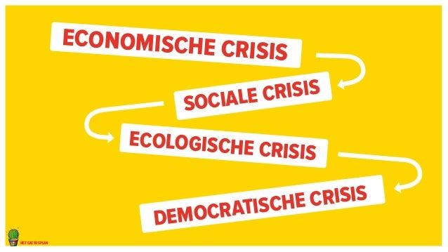 het cactusplan  Economische crisis  Sociale crisis  Ecologische crisis  Democratische crisis