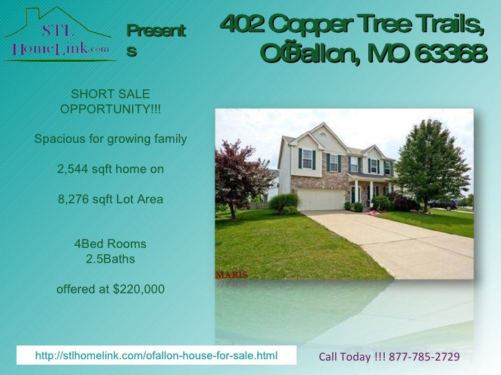 402 Copper Tree Trails, O'Fallon, MO 63368 Presents Call Today !!! 877-785-2729 SHORT SALE OPPORTUNITY!!! Spacious for gro...