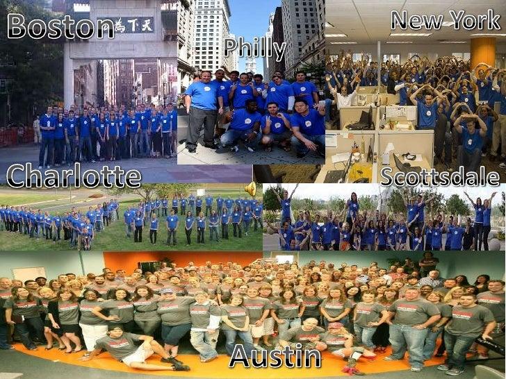 Boston<br />New York<br />Philly<br />Charlotte<br />Scottsdale<br />Austin<br />