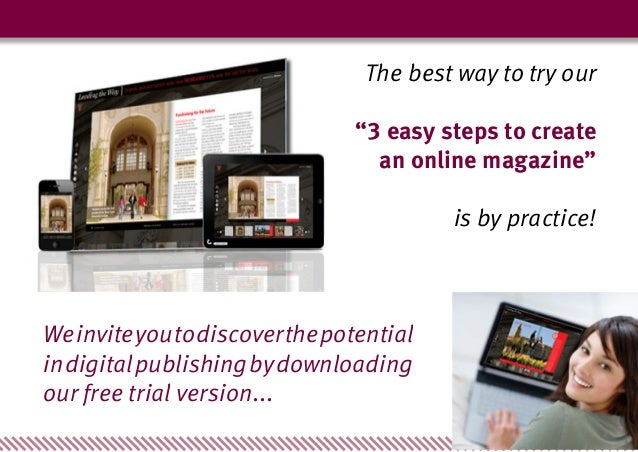 3 Easy Steps to Create an Online Magazine