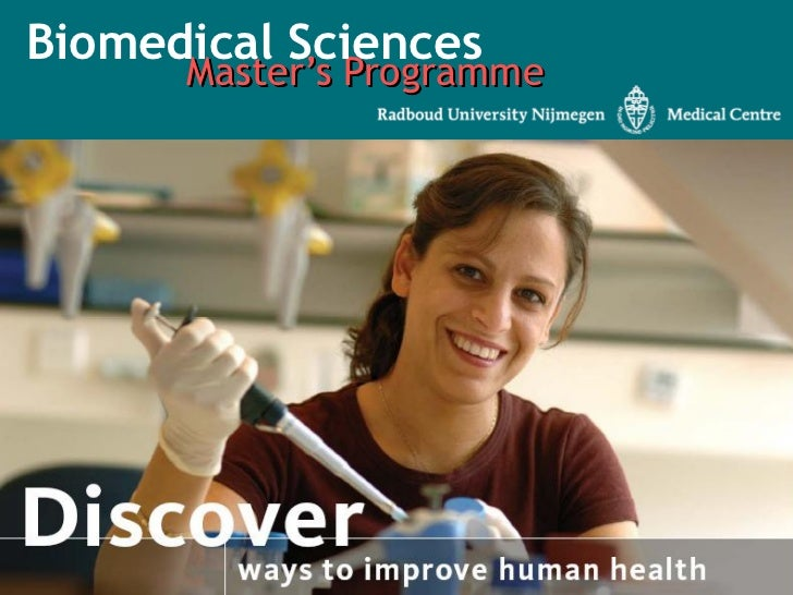 Biomedical Sciences      Master's Programme
