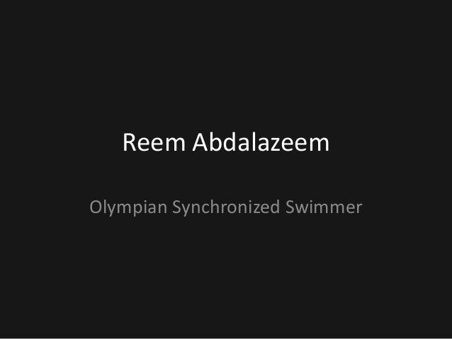 Reem AbdalazeemOlympian Synchronized Swimmer