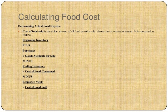 Cost control calculating food costdetermining forumfinder Images