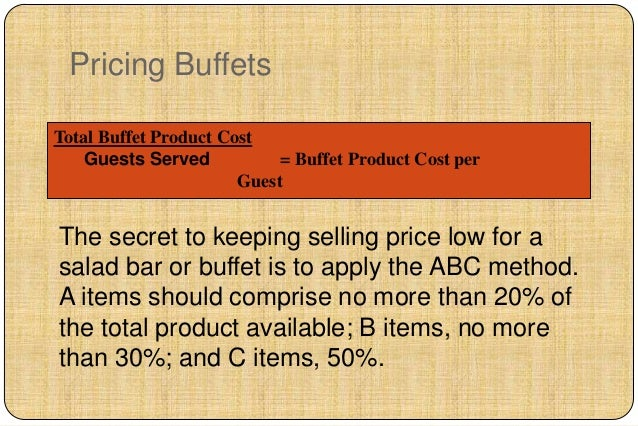 buffet pricing strategy