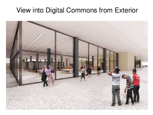 View into Digital Commons from Exterior