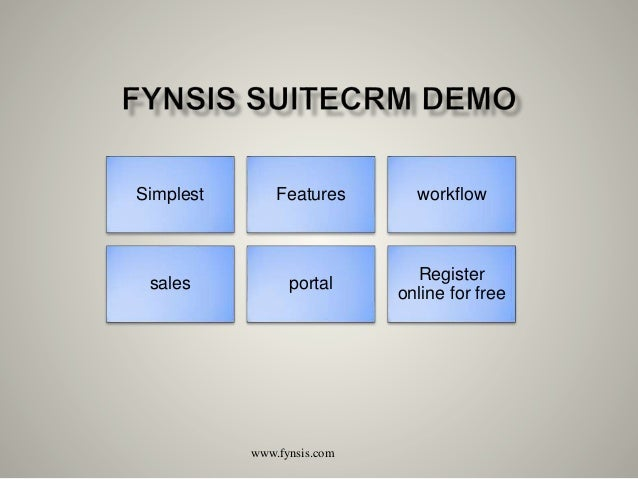 Simplest Features workflow sales portal Register online for free www.fynsis.com