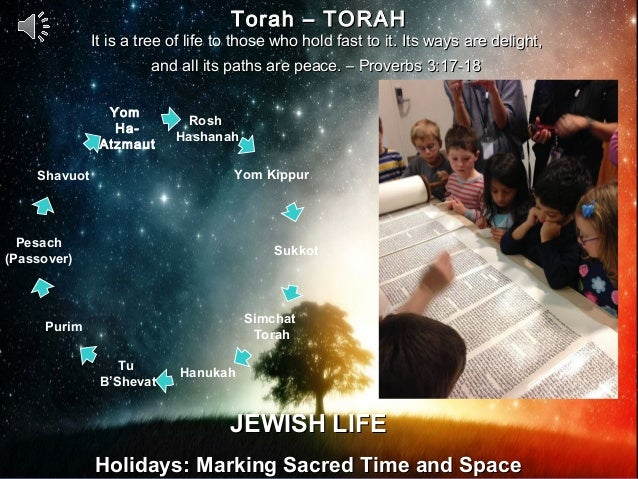 Torah – TORAH              It is a tree of life to those who hold fast to it. Its ways are delight,                       ...