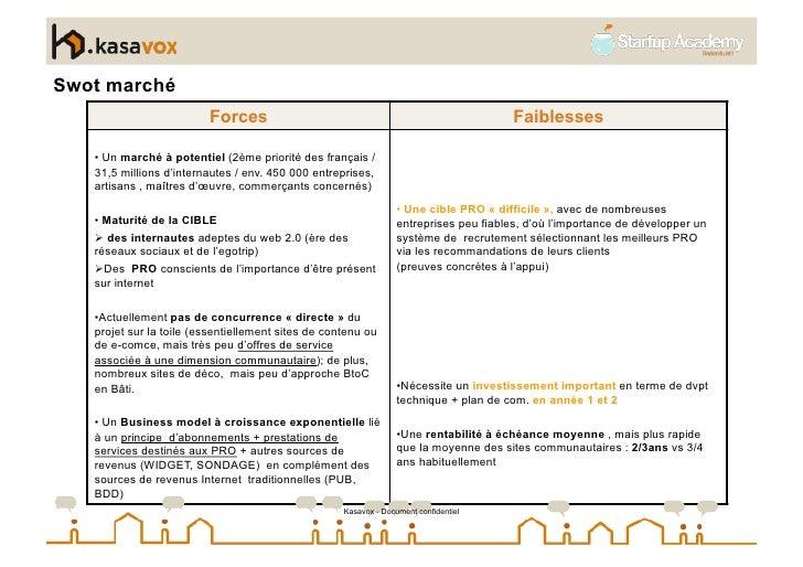 Swot marché                          Forces                                                         Faiblesses     • Un m...