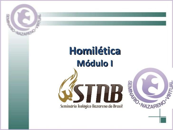 Homilética Módulo I
