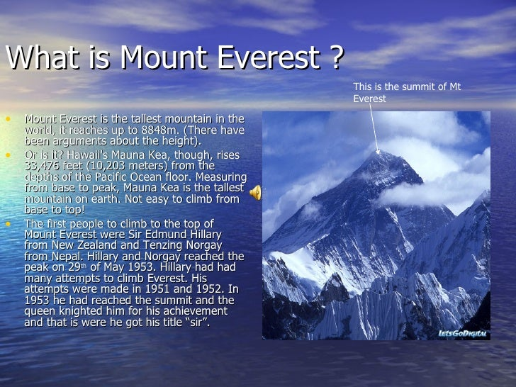 Mount Everest Video For Kids