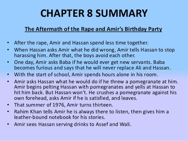 what are your first impressions of amir in this chapter kite runner Transcript of the kite runner-chapters 1-5 the kite runner analysis chapters 1 - 5 chapter one summary chapter two summary amir's first word is baba.