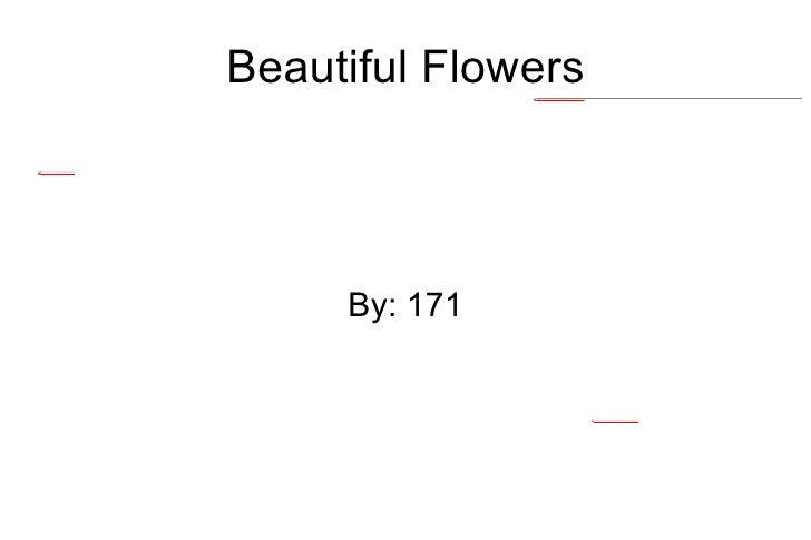 Beautiful Flowers By: 171