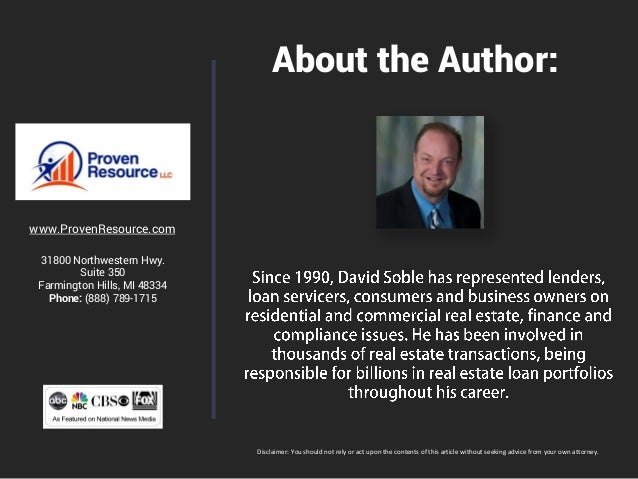 About the Author: www.ProvenResource.com 31800 Northwestern Hwy. Suite 350 Farmington Hills, MI 48334 Phone: (888) 789-171...