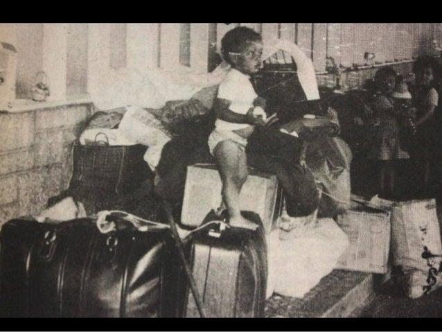 Durante a Guerra Colonial muitos começaram a chegar   aos poucos a Portugal. Depois de 1974 chegarammilhares. Ao todo fora...