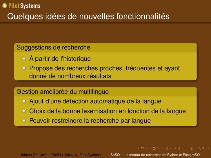 Quelques idées de nouvelles fonctionnalités  Suggestions de recherche        À partir de l'historique        Propose des r...