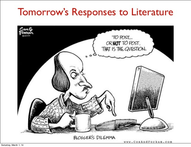 Tomorrow's Responses to Literature  Saturday, March 1, 14