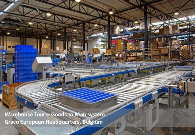 Warehouse Tour – Goods to Man system Graco European Headquarters, Belgium