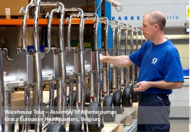 Warehouse Tour – Assembly of Xtreme pumps Graco European Headquarters, Belgium