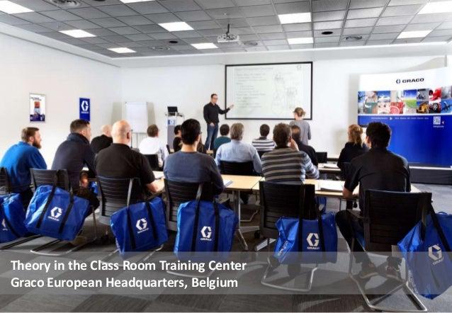 Theory in the Class Room Training Center Graco European Headquarters, Belgium