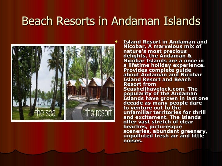 Beach Resorts in Andaman Islands <ul><li>Island Resort in Andaman and Nicobar, A marvelous mix of nature's most precious d...