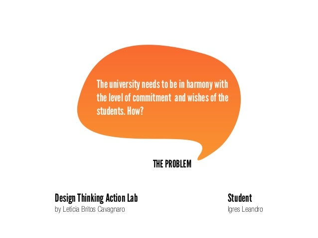 THE PROBLEM The university needs to be in harmony with the level of commitment and wishes of the students. How? Design Thi...