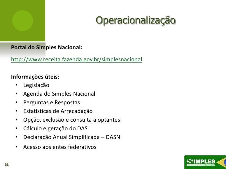 Slide simples nacional