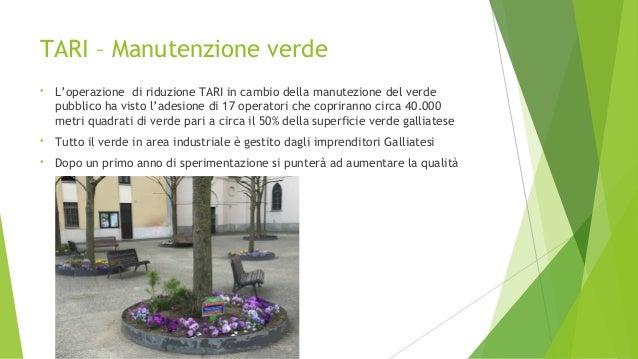 Comune di galliate bilancio previsione 2016 for Tari utenze non domestiche