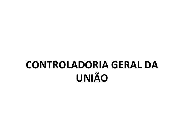 CONTROLADORIA GERAL DA UNIÃO