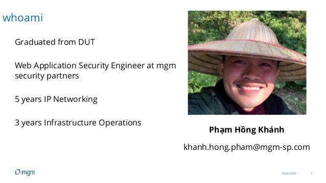 08.04.2019 2 Graduated from DUT Web Application Security Engineer at mgm security partners 5 years IP Networking 3 years I...