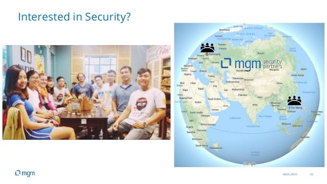 08.04.2019 25 Interested in Security?
