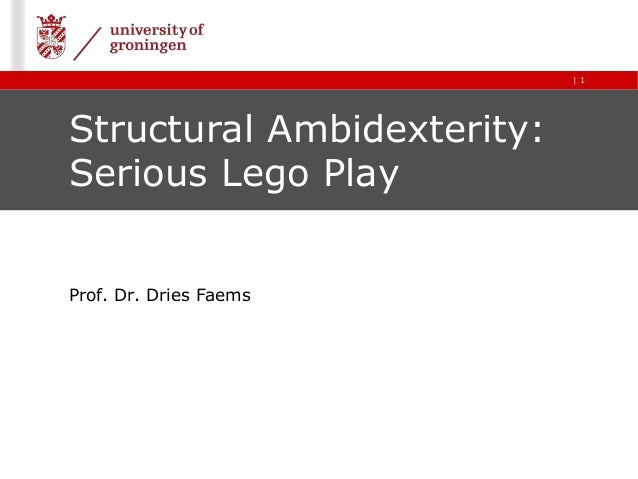 | 1 Structural Ambidexterity: Serious Lego Play Prof. Dr. Dries Faems