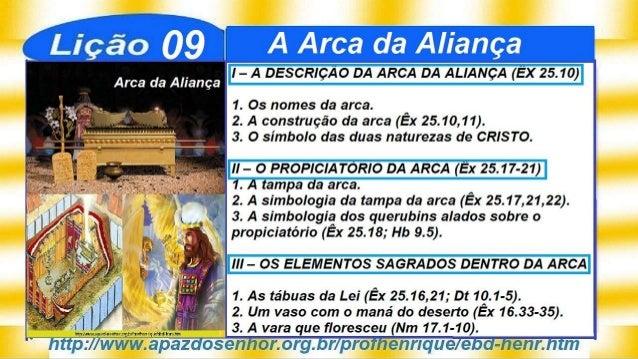 Slides da Lição 9, A Arca da Aliança, 2Tr19, Pr. Henrique, EBD NA TV