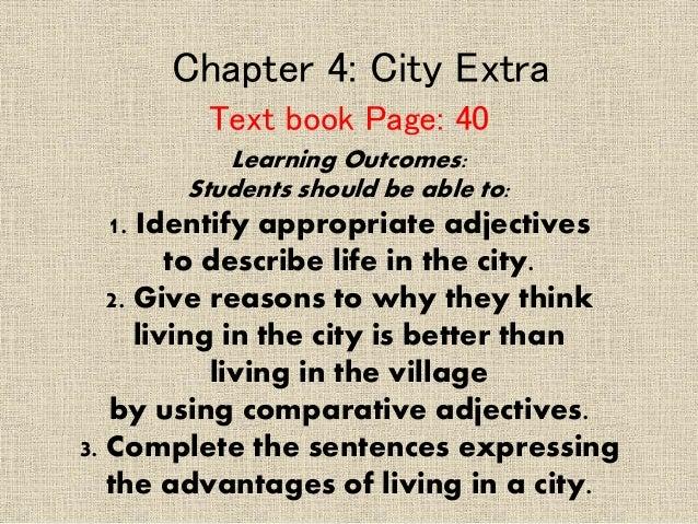 sentences about city life