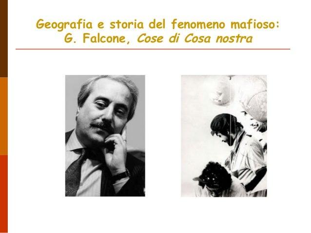 Geografia e storia del fenomeno mafioso:G. Falcone, Cose di Cosa nostra