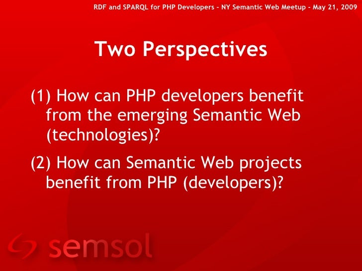 RDF and SPARQL for PHP Developers (at New York Semantic Web Meetup) Slide 2