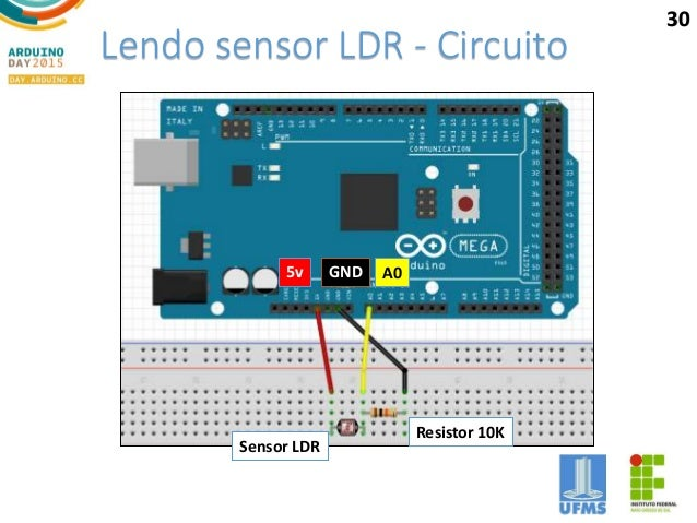 Circuito Ldr : Projeto sensor de luz ldr com sonorizador squids arduino
