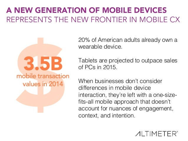 21! 20% of American adults already own a wearable device.! ! Tablets are projected to outpace sales of PCs in 2015.! ! Whe...