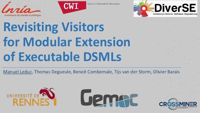 Revisiting Visitors for Modular Extension of Executable DSMLs Manuel Leduc, Thomas Degueule, Benoit Combemale, Tijs van de...